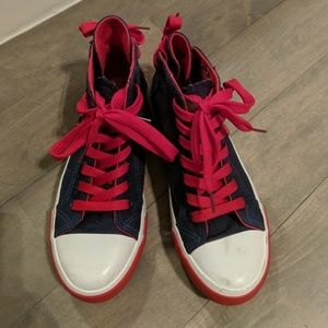 Xing Pai Shoes - [Moving Sale] Dark navy and red Women's sneakers